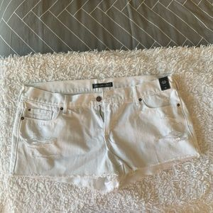 ABERCROMBIE White Jean Shorts 32 BRAND NEW